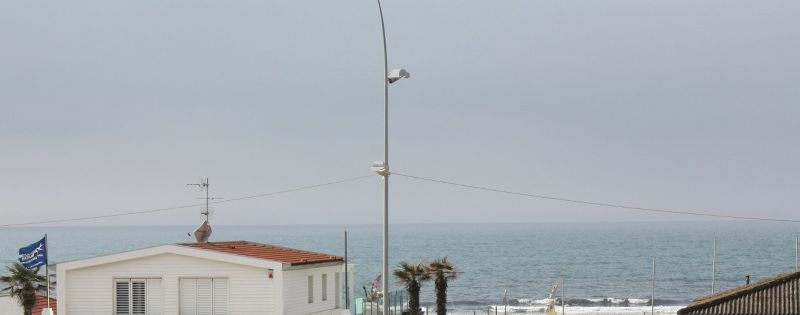 Lido di Camaiore, flat front of the sea