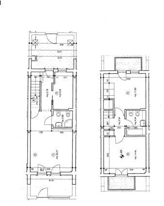 Viareggio villetta a schiera con giardino viareggio for Planimetrie case moderne